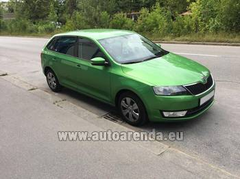 Аренда автомобиля ŠKODA Rapid Spaceback в Катании